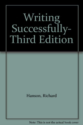 Writing Successfully 3rd 2005 9780976497202 Front Cover