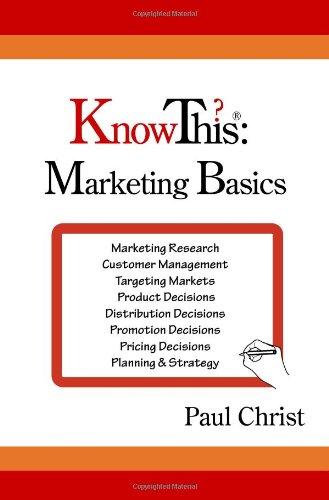 KnowThis Marketing Basics Marketing Basics  2008 9780982072202 Front Cover