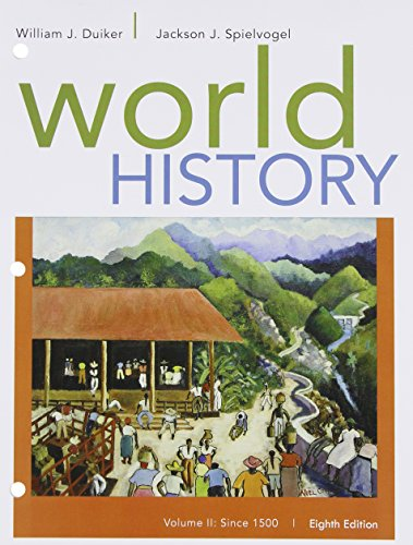 World History, Volume II: Since 1500  8th 2016 edition cover