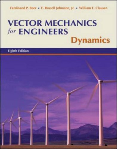 Vector Mechanics for Engineers Dynamics 8th 2007 (Revised) edition cover