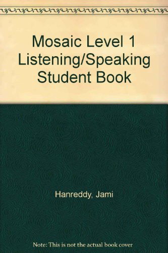 Mosaic Level 1 Listening/Speaking Student Book  6th edition cover