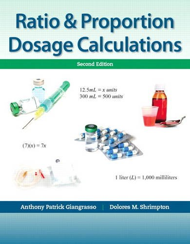 Ratio and Proportion Dosage Calculations  2nd 2014 edition cover