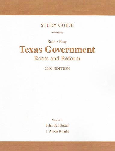 Texas Politics and Govenment  3rd 2010 (Guide (Pupil's)) 9780205745203 Front Cover