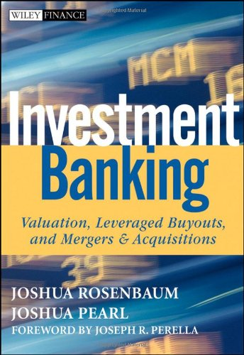 Investment Banking Valuation, Leveraged Buyouts, and Mergers and Acquisitions  2009 edition cover