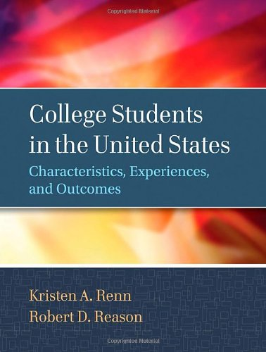 College Students in the United States Characteristics, Experiences, and Outcomes  2013 edition cover
