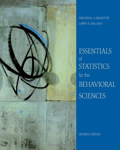 Essentials of Statistics for the Behavioral Sciences  7th 2011 edition cover
