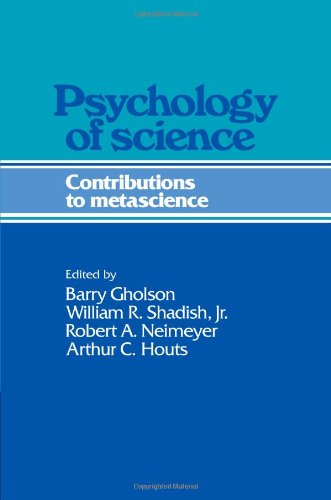 Psychology of Science Contributions to Metascience  2011 9780521203203 Front Cover