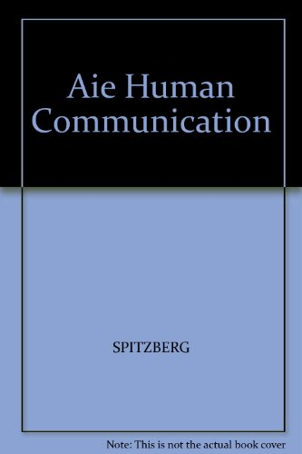 HUMAN COMMUNICATION >ANNOT.INS 1st 9780534566203 Front Cover