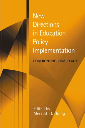 New Directions in Education Policy Implementation Confronting Complexity  2006 edition cover