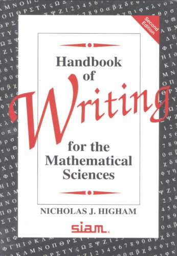 Handbook of Writing for the Mathematical Sciences  2nd 1998 (Revised) edition cover