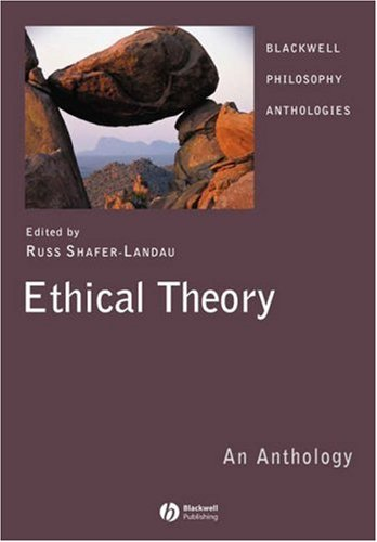 Ethical Theory An Anthology  2007 edition cover