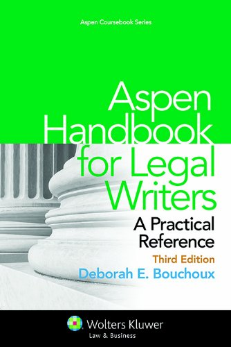 Aspen Handbook for Legal Writers: A Practical Reference  2013 edition cover