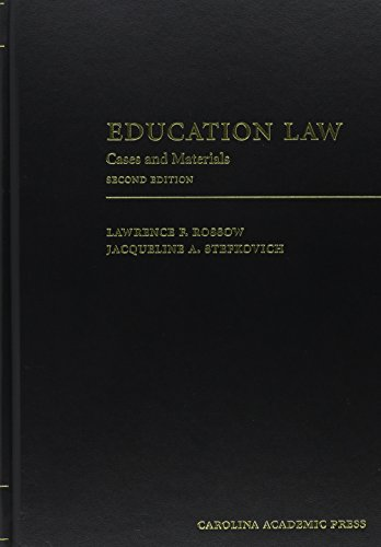 Education Law Cases and Materials 2nd edition cover