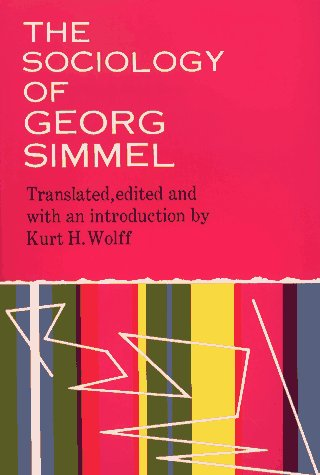 Sociology of Georg Simmel   1964 9780029289204 Front Cover