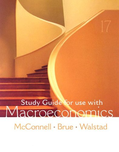 Macroeconomics Study Guide for Use With 17th 2008 edition cover