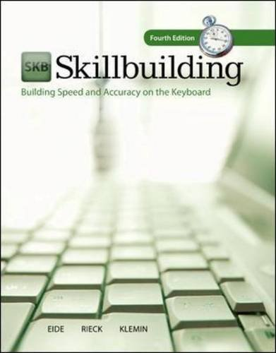 Skillbuilding: Building Speed and Accuracy on the Keyboard (Text Only) Building Speed and Accuracy on the Keyboard (Text Only) 4th 2012 edition cover