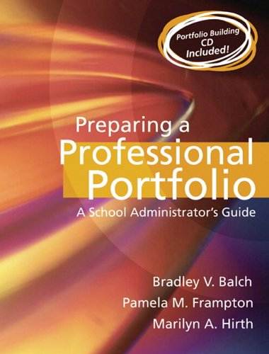 Preparing a Professional Portfolio A School Administrator's Guide  2006 edition cover