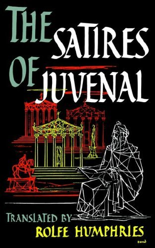 Satires of Juvenal   1960 9780253200204 Front Cover