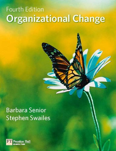 Organizational Change  4th 2010 9780273716204 Front Cover