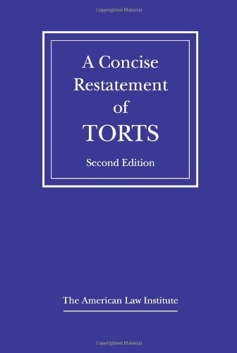 Concise Restatement of Torts   2010 edition cover