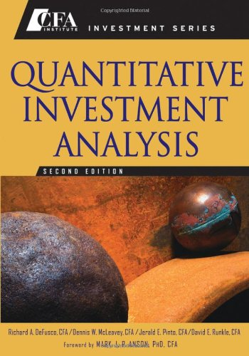 Quantitative Investment Analysis  2nd 2007 (Revised) edition cover