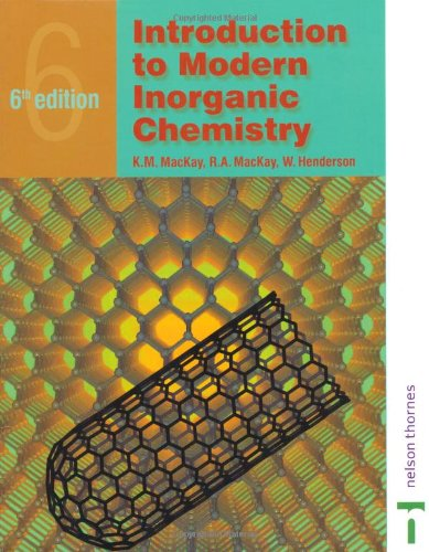 Introduction to Modern Inorganic Chemistry  6th 2002 (Revised) 9780748764204 Front Cover