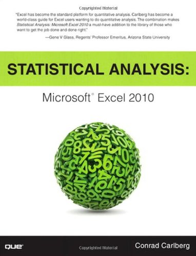 Statistical Analysis Microsoft Excel 2010  2011 (Revised) edition cover