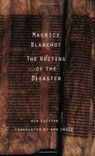 Writing of the Disaster   1995 edition cover