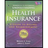 Understanding Health Insurance A Guide to Billing and Reimbursement 10th 2011 (Workbook) 9781111035204 Front Cover