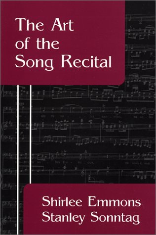 Art of the Song Recital   1979 edition cover