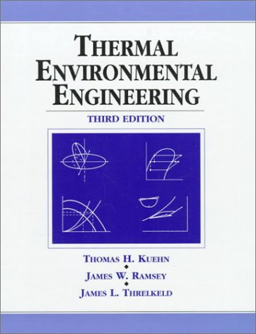 Thermal Environmental Engineering  3rd 1998 edition cover