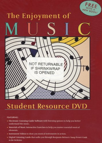 Enjoyment of Music An Introduction to Perceptive Listening 10th 2007 edition cover