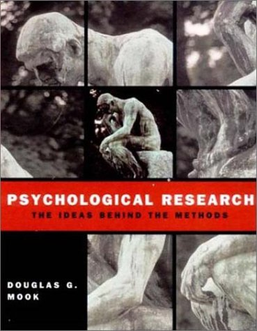 Psychological Research The Ideas Behind the Methods  2001 edition cover