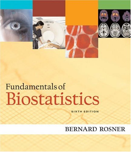 Fundamentals of Biostatistics  6th 2006 edition cover