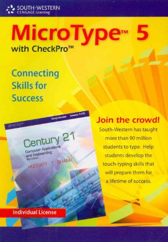 MicroType 5 with CheckPro, Individual License CD-ROM for Century 21 (with Quick Start Guide)  5th 2010 9780538494205 Front Cover