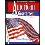 Supplemental Guide to American Government  3rd (Revised) 9780757578205 Front Cover