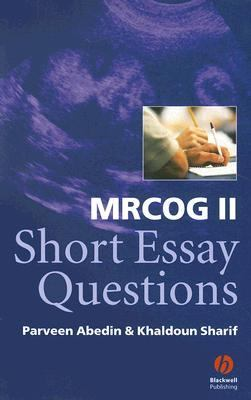 MRCOG II Short Essay Questions   2003 9781405100205 Front Cover