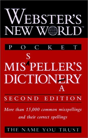 Pocket Misspeller's Dictionary  2nd 1997 (Revised) 9780028617206 Front Cover