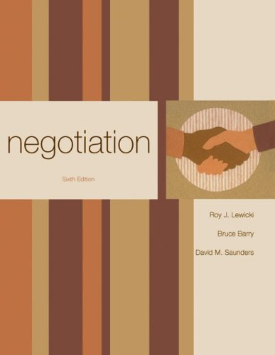 Negotiation  6th 2010 edition cover