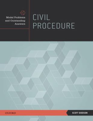 Civil Procedure Model Problems and Outstanding Answers  2011 9780195388206 Front Cover