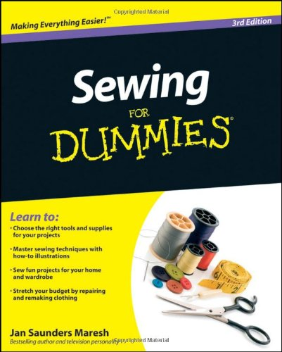 Sewing for Dummies�  3rd 2010 edition cover