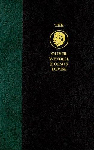 oliver Wendell Holmes Devise   2005 9780521848206 Front Cover
