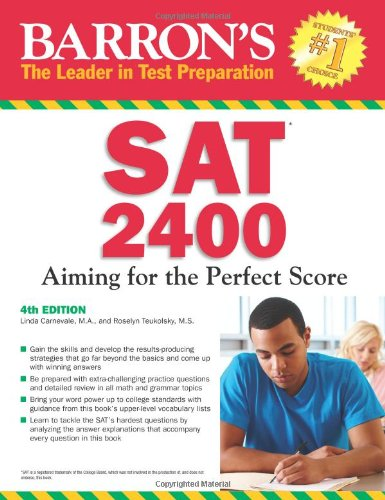 Barron's SAT 2400, 4th Edition  4th 2012 (Revised) edition cover