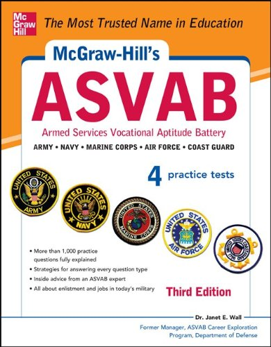 McGraw-Hill's Asvab Armed Services Vocational Aptitute Battery 3rd 2013 edition cover