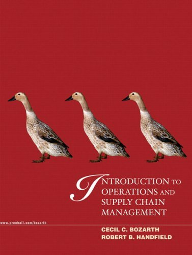 Introduction to Operations and Supply Chain Management   2006 edition cover
