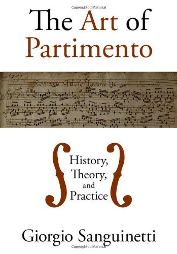 Art of Partimento History, Theory, and Practice  2011 edition cover