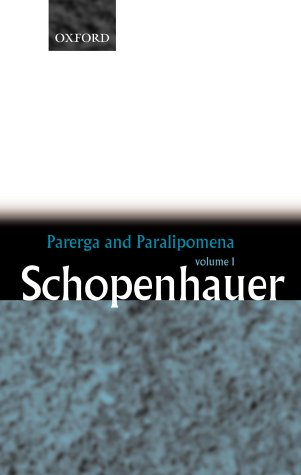 Parerga and Paralipomena - Schopenhauer   2000 edition cover
