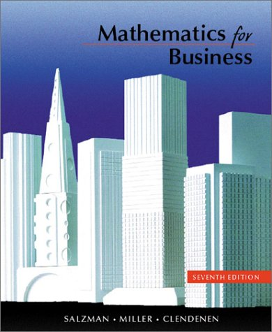 Mathematics for Business  7th 2001 (Revised) 9780321069207 Front Cover