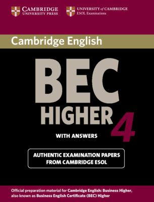 Cambridge English Business Certificate. Higher 4 Student's Book with Answers   2009 9780521739207 Front Cover