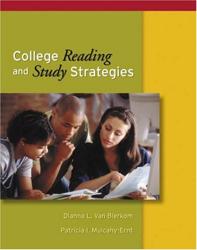 College Reading and Study Strategies   2005 9780534584207 Front Cover